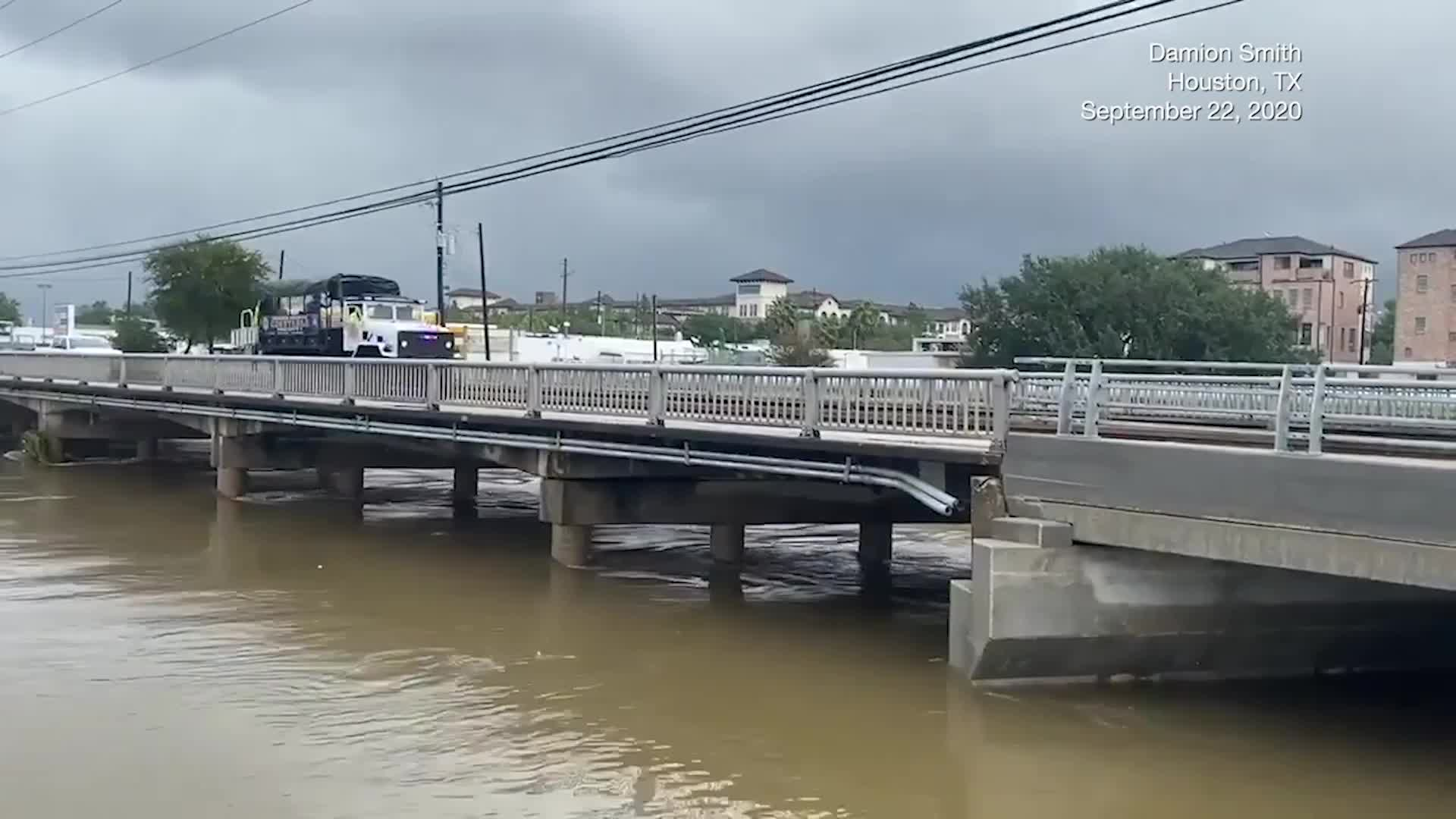 Some Houston Roadways Remain Closed After Flooding from Beta