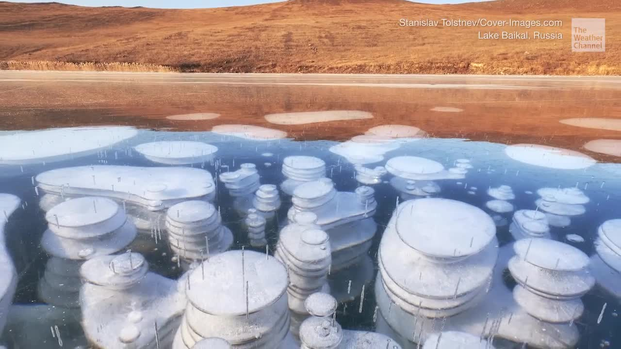 Frozen Methane Bubbles Spotted on Lake Baikal - Videos from The Weather Channel | weather.com
