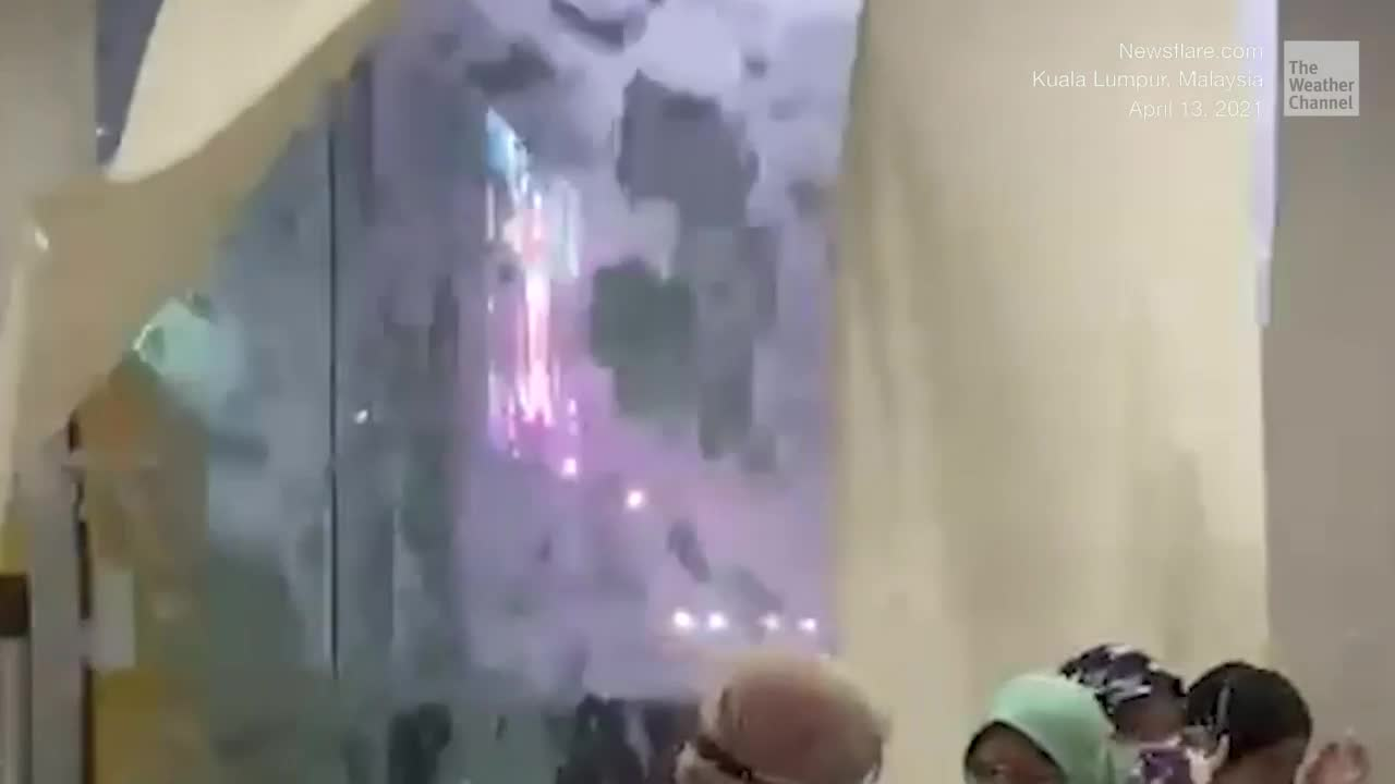Windows Shatter During Strong Thunderstorm - Videos from The Weather Channel   weather.com