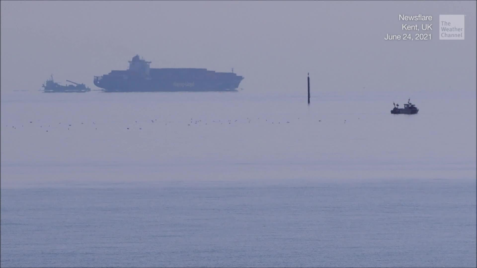Is UK Flying Ship Fata Morgana or False Horizon?