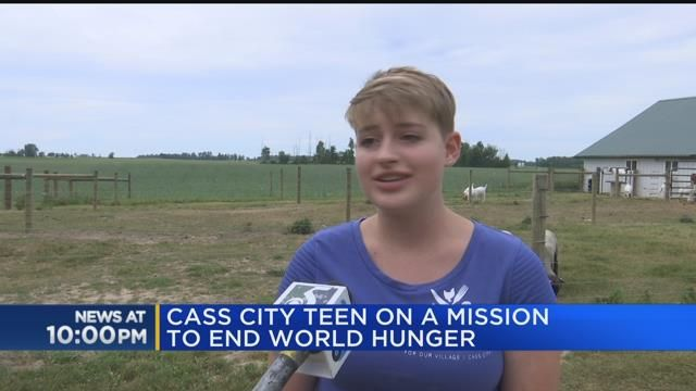 Cass City teen on a mission to end world hunger