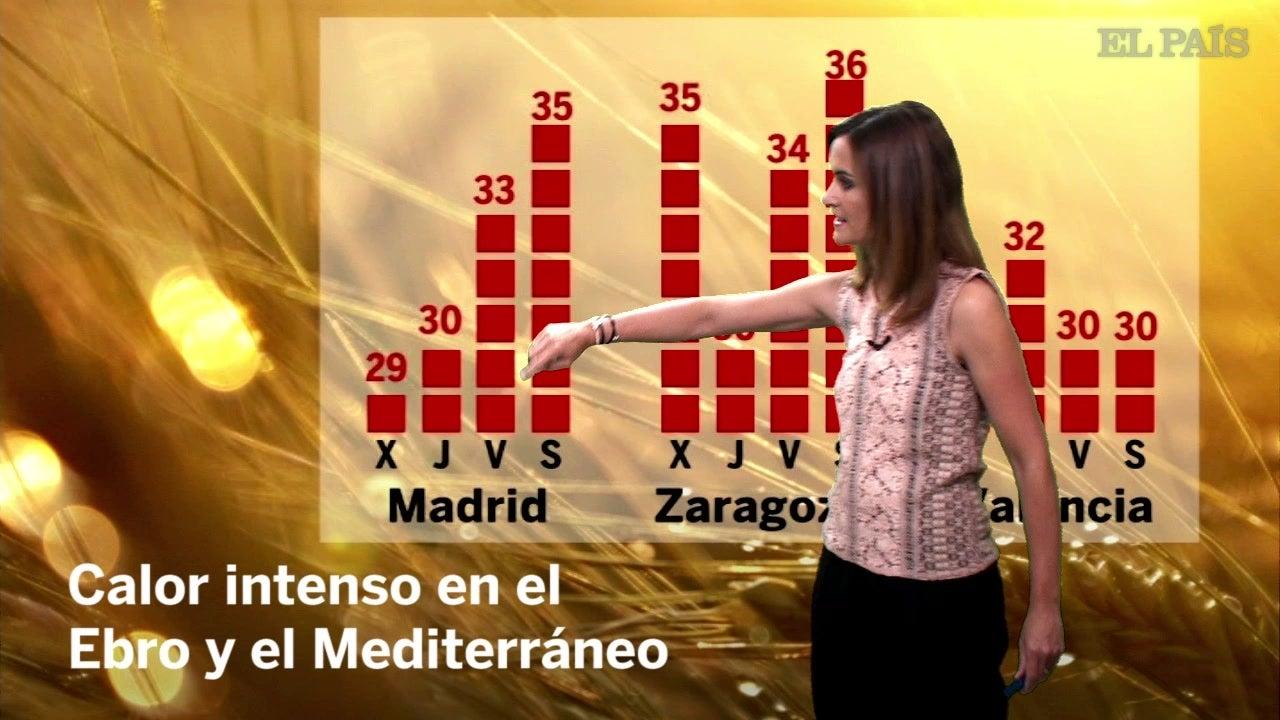 4 julio: miércoles de calor intenso en el Ebro y Mediterráneo
