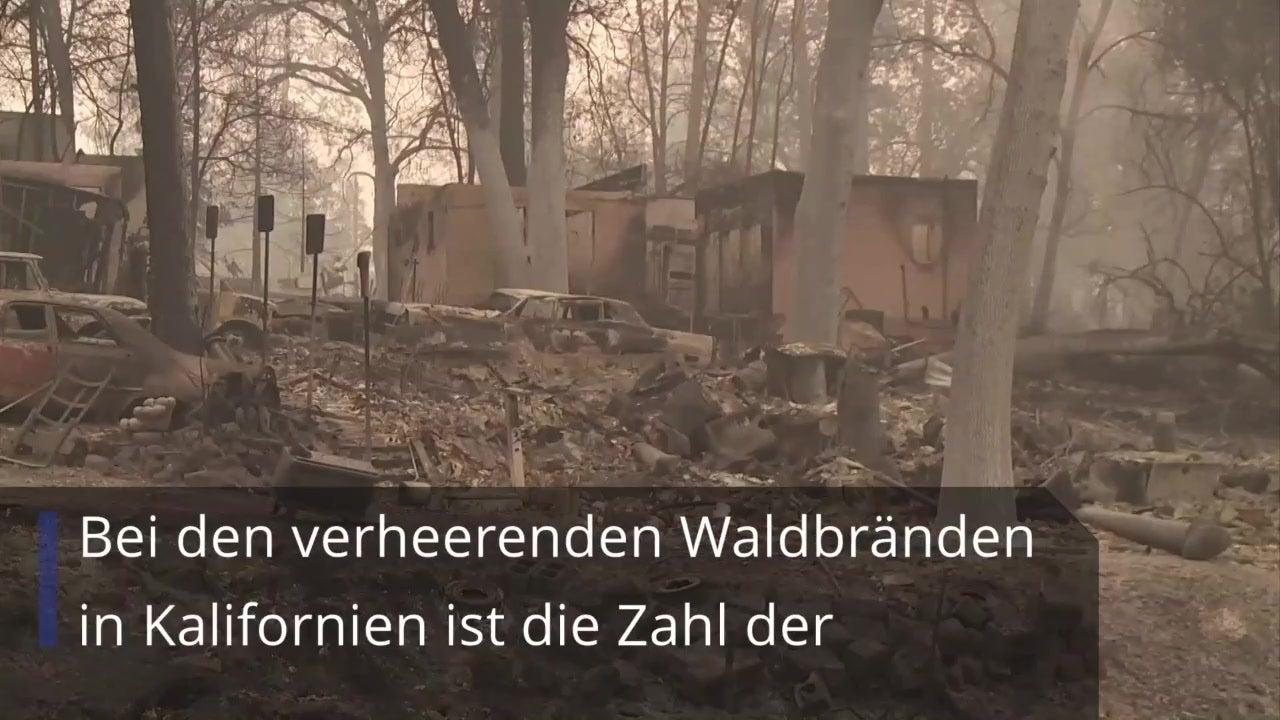 Waldbrände wüten in Kalifornien: Über 30 Tote