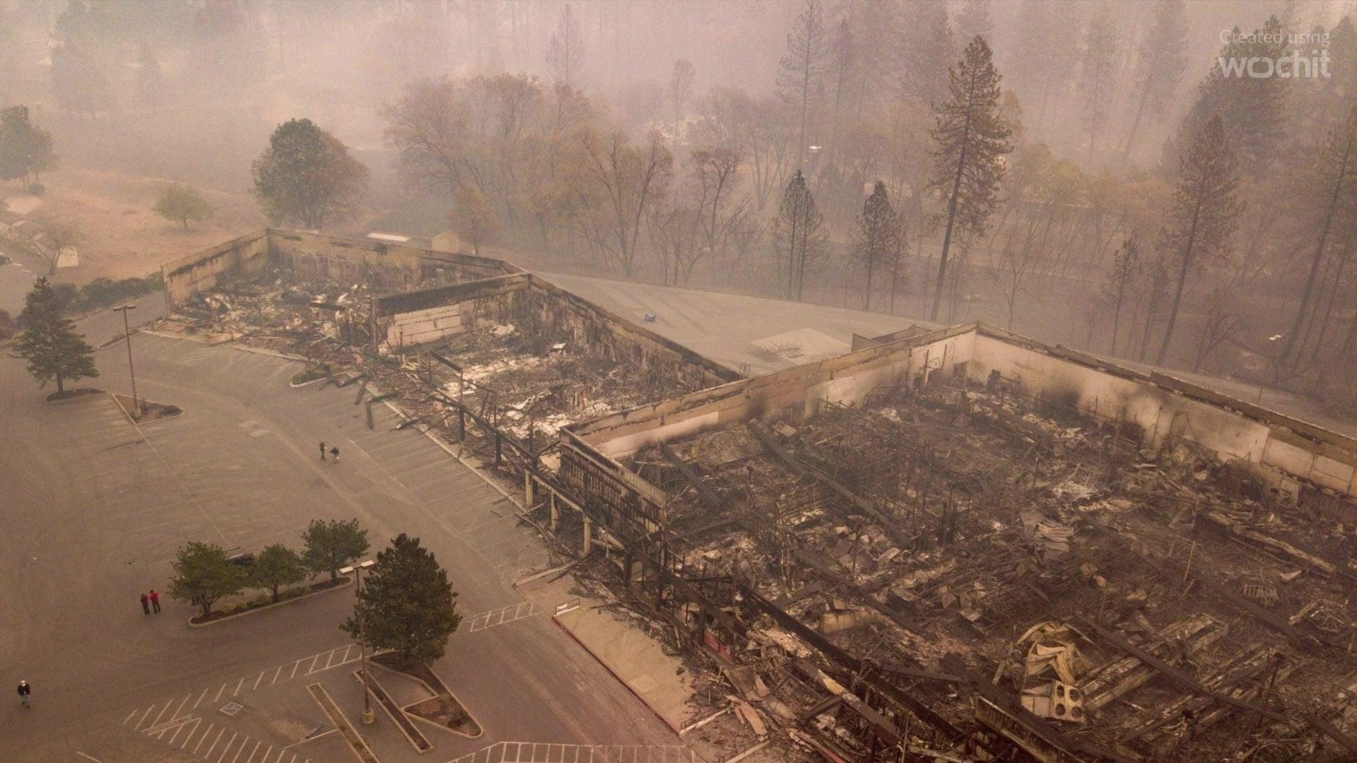 Drohnen-Fotos zeigen Zerstörung in Kalifornien