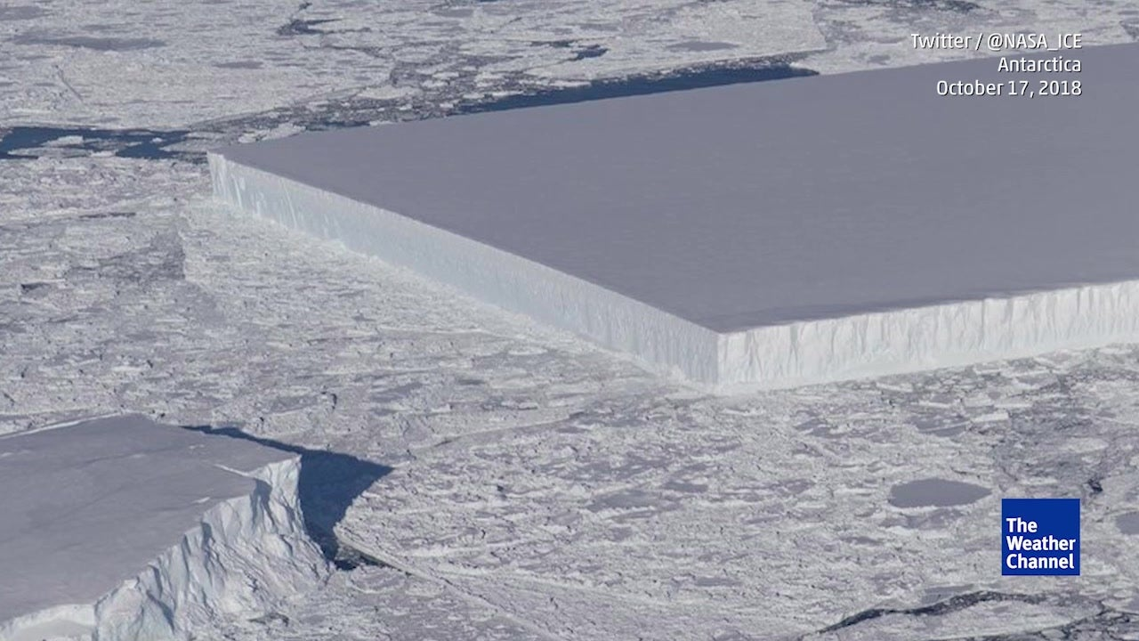 Bizarre Rectangular Iceberg Spotted in Antarctica