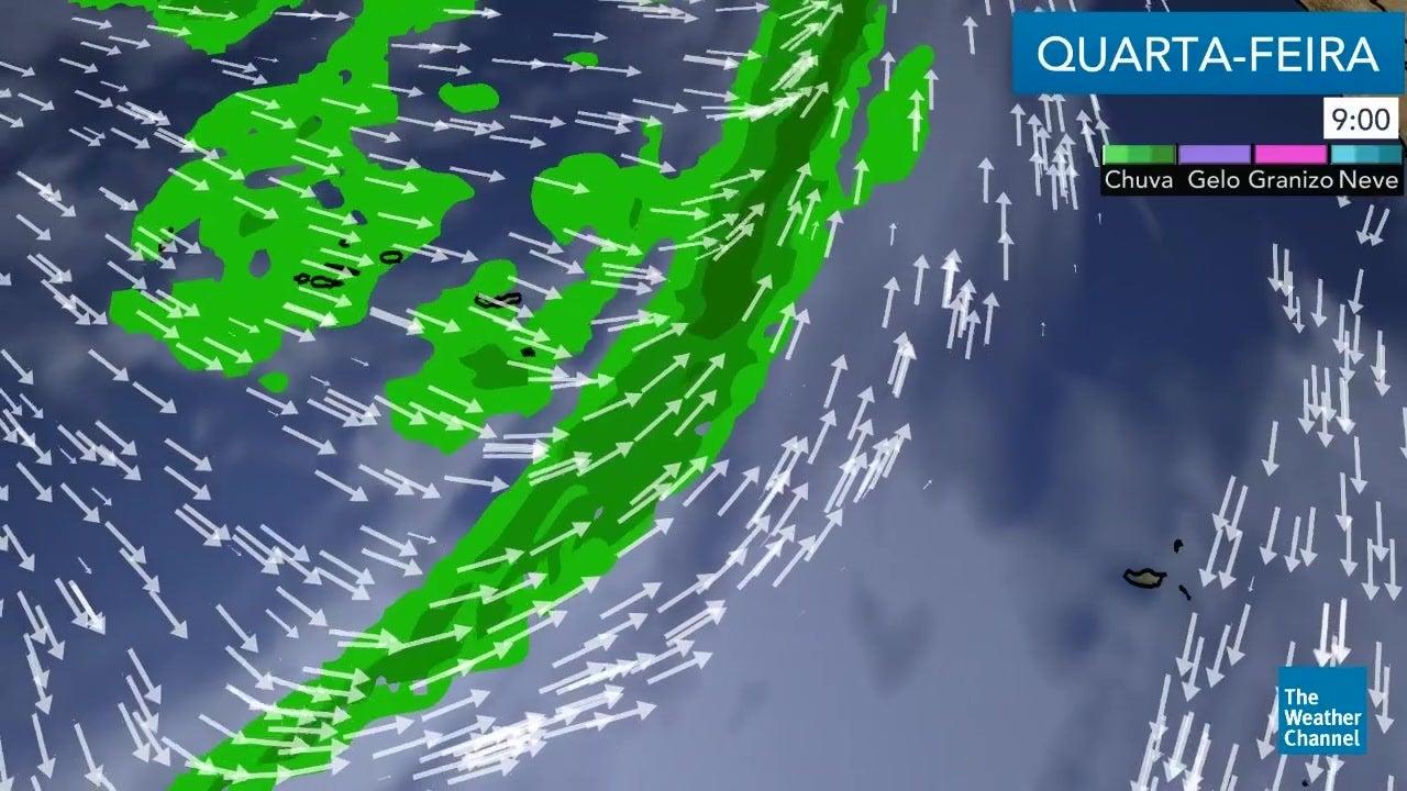 Veja o tempo para esta quarta-feira nos Arquipélagos
