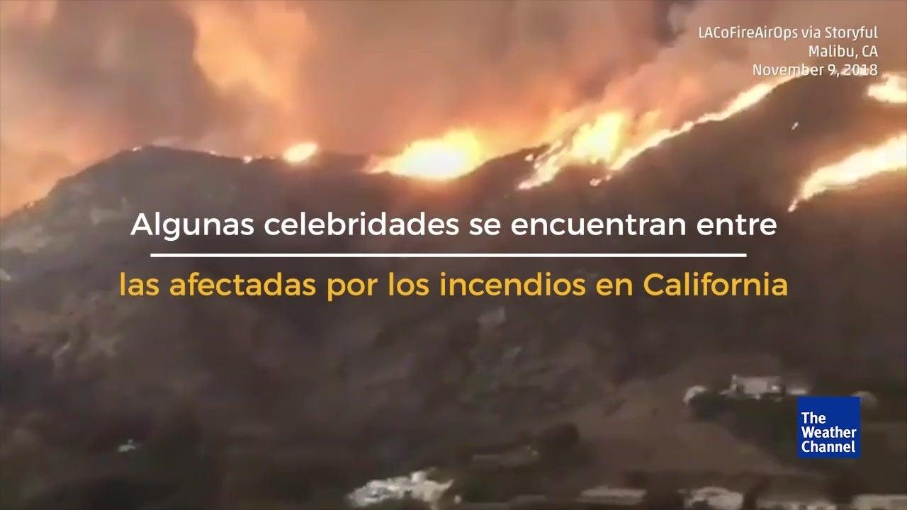 Famosos sufren pérdidas en el incendio