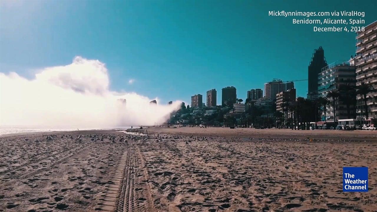 Watch Fog Make Beach Disappear