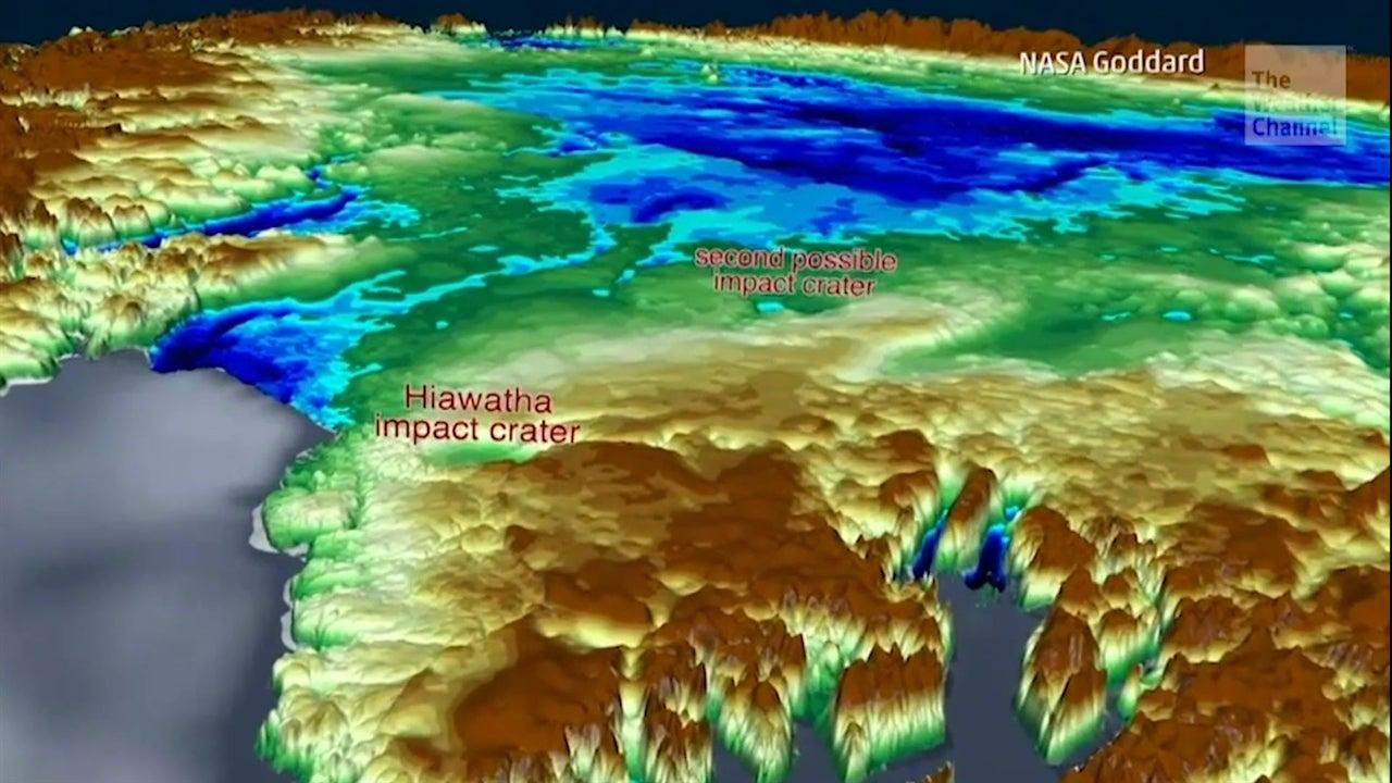 NASA descubre nuevo cráter en Groenlandia