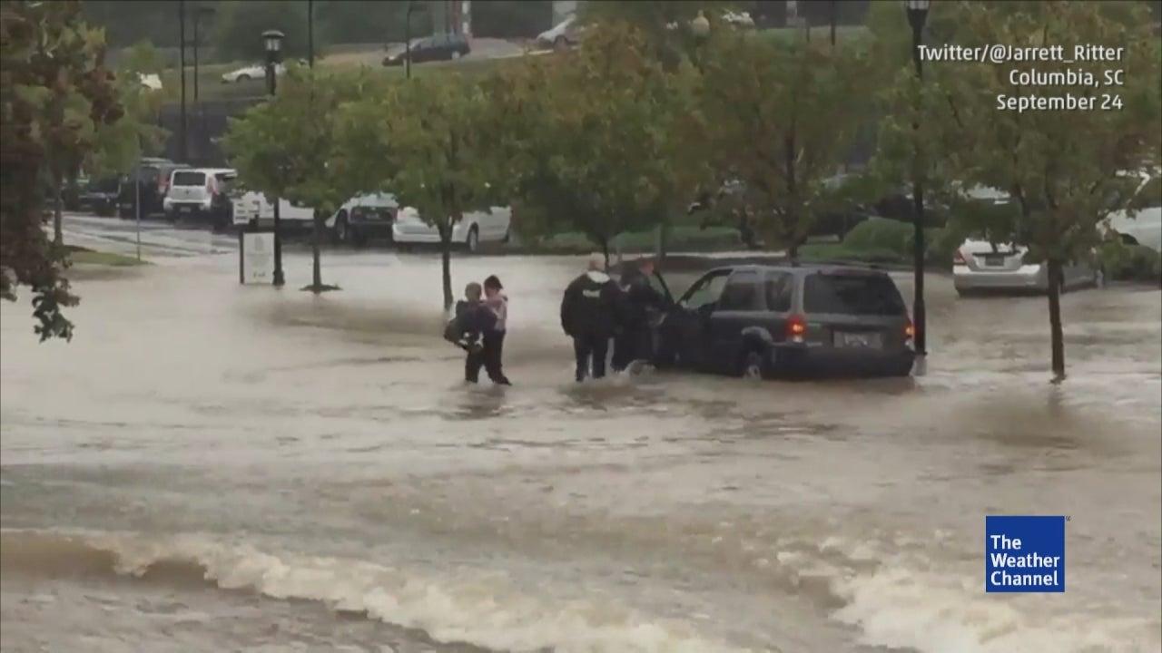 flood rescue in columbia  south carolina