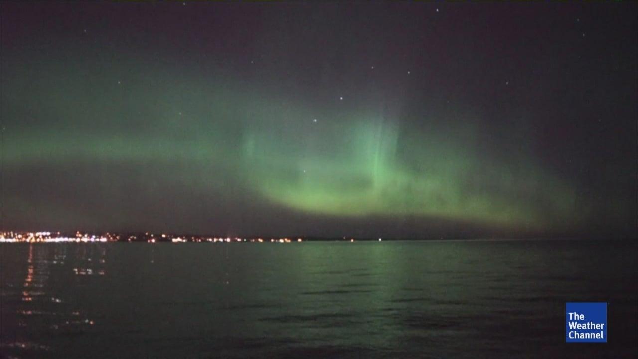 Spectacular Sky Due to Aurora Borealis