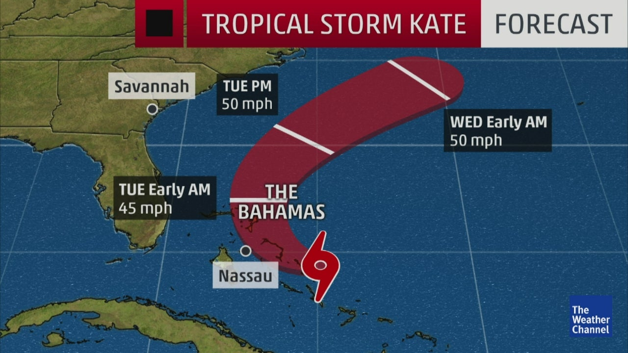 tropical storm kate named