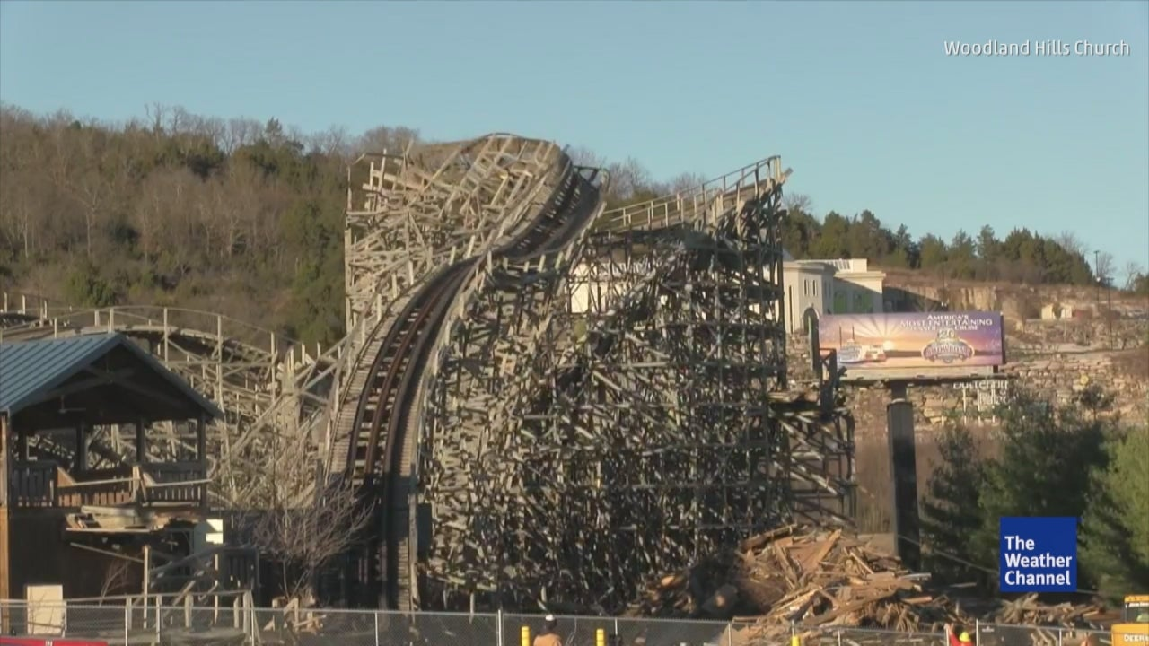 Branson Missouri Celebration City Roller Coaster Demolition The Weather Channel
