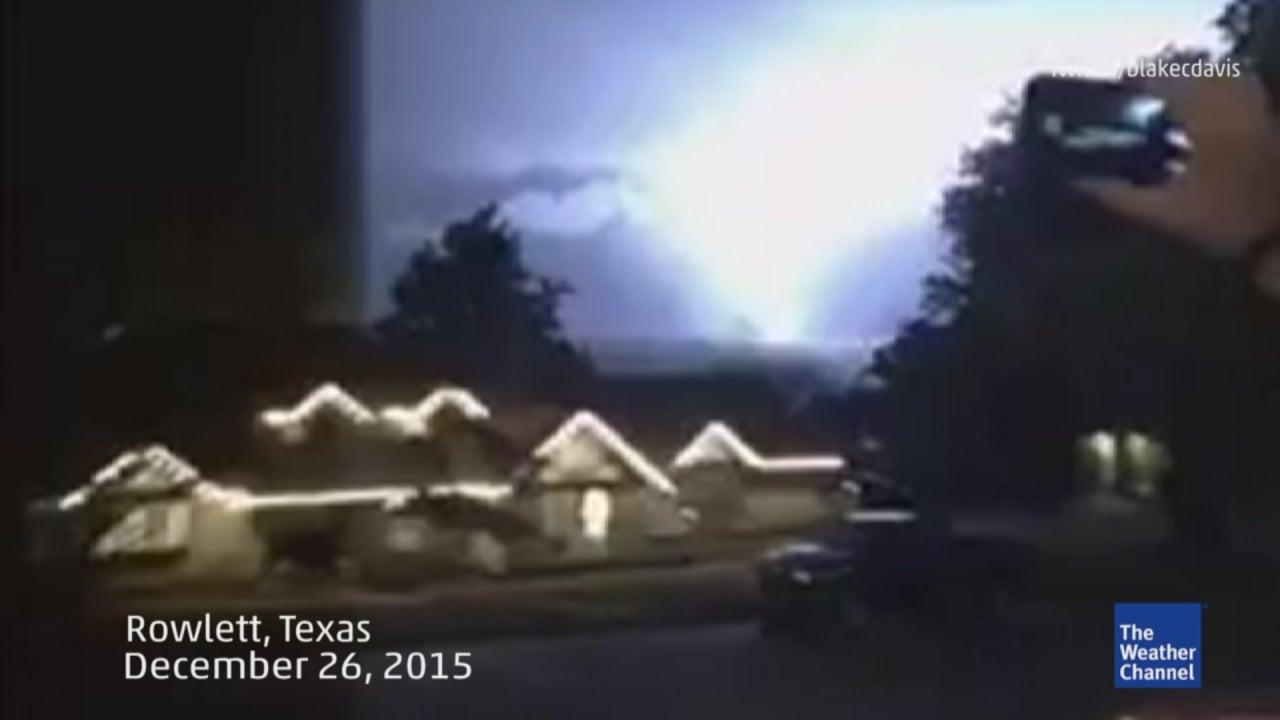 view of tornado across lake ray hubbard
