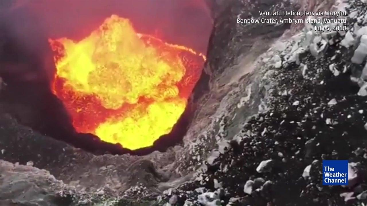 A Hair-Raising View Of An Erupting Volcano