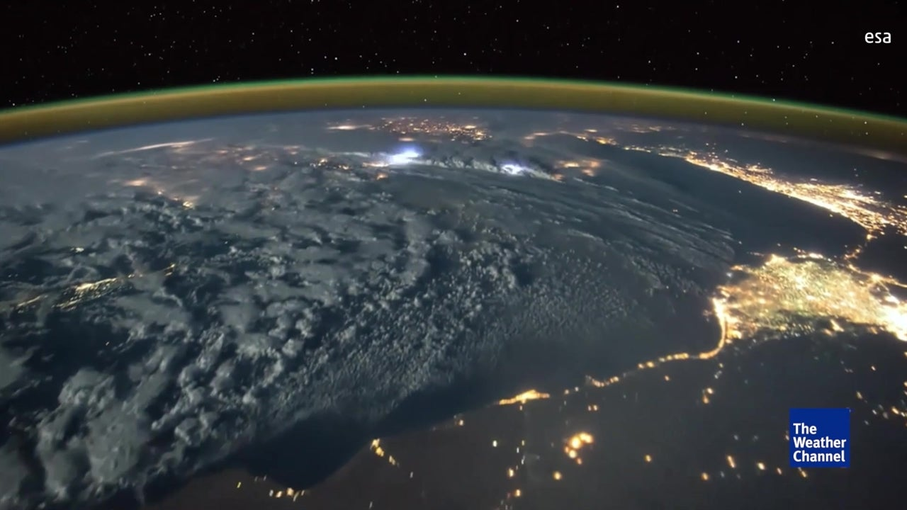 Lighting storm as seen from space!