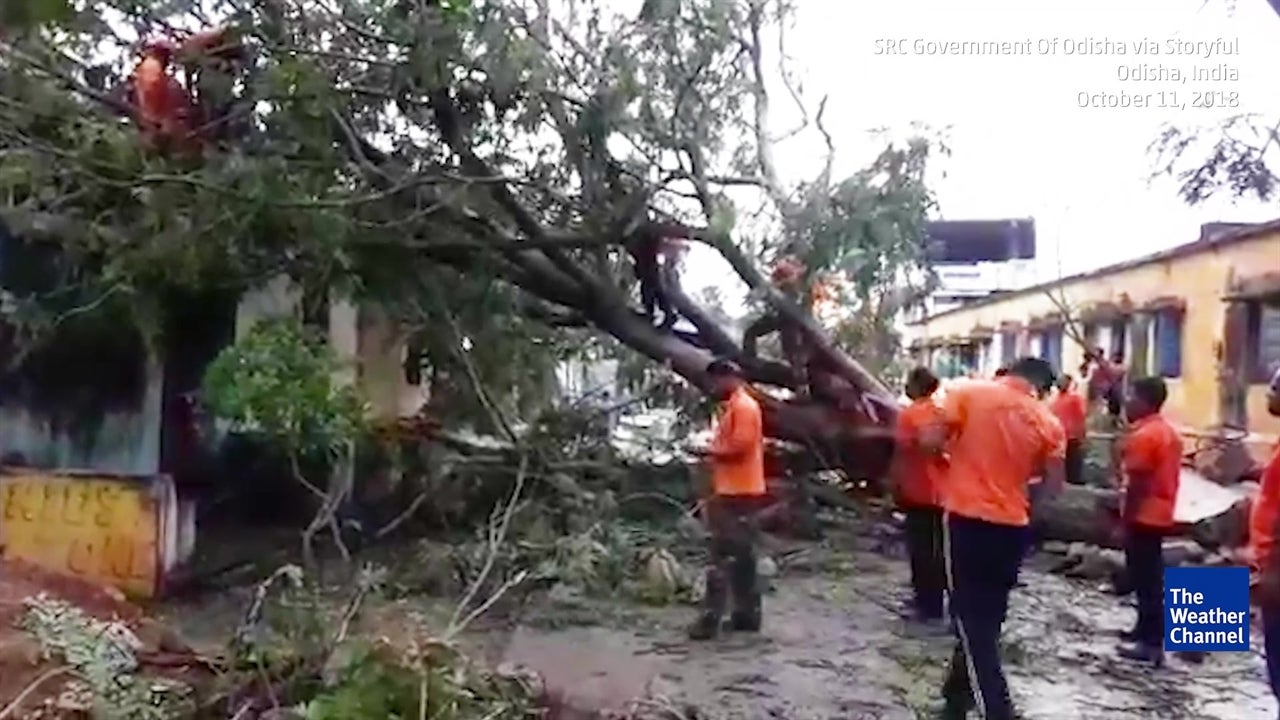 Visuals From the Very Severe Cyclone Titli