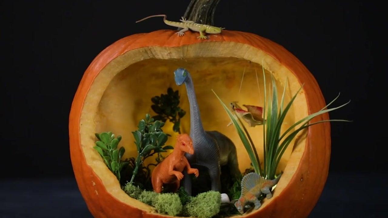How to Make a Dino Pumpkin