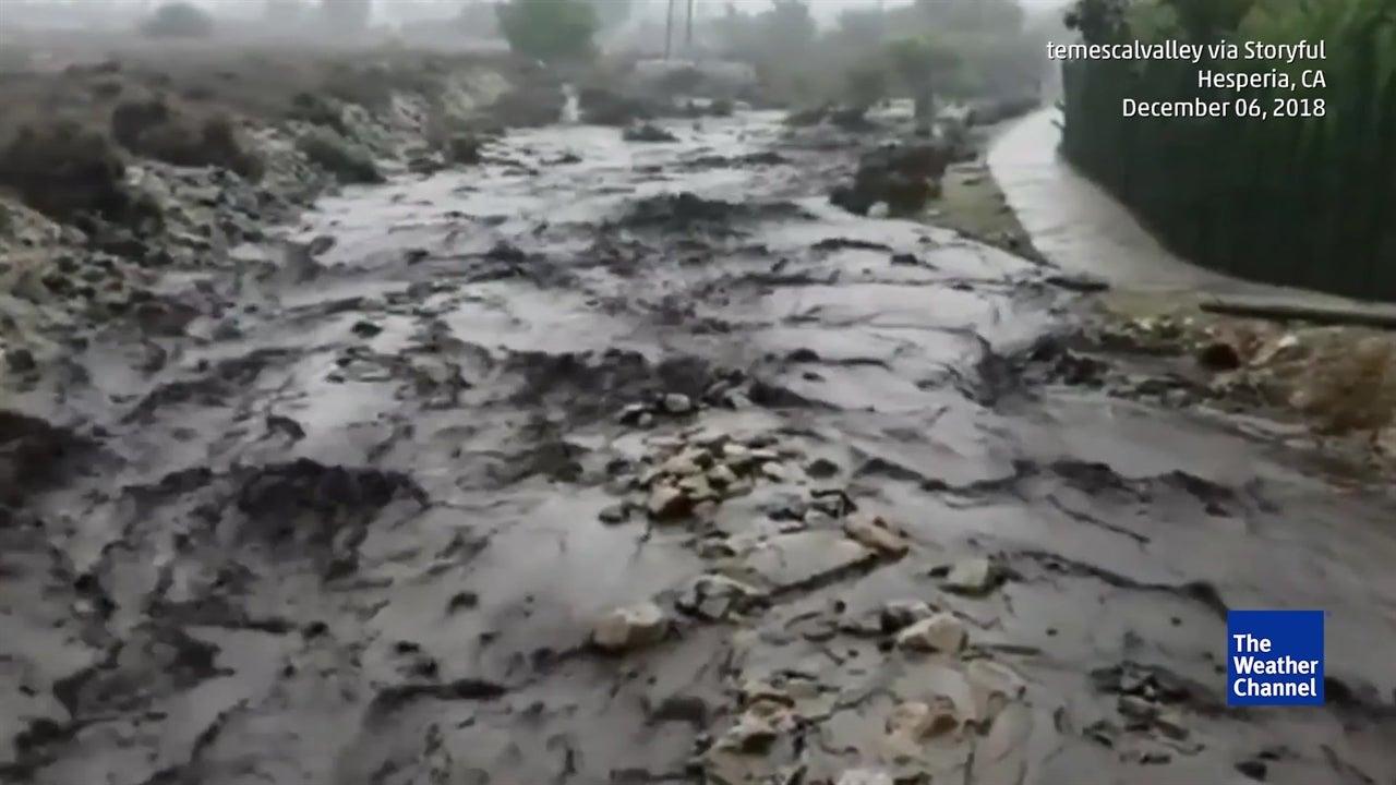 Califórnia:enxurradas de lama causam momentos de terror