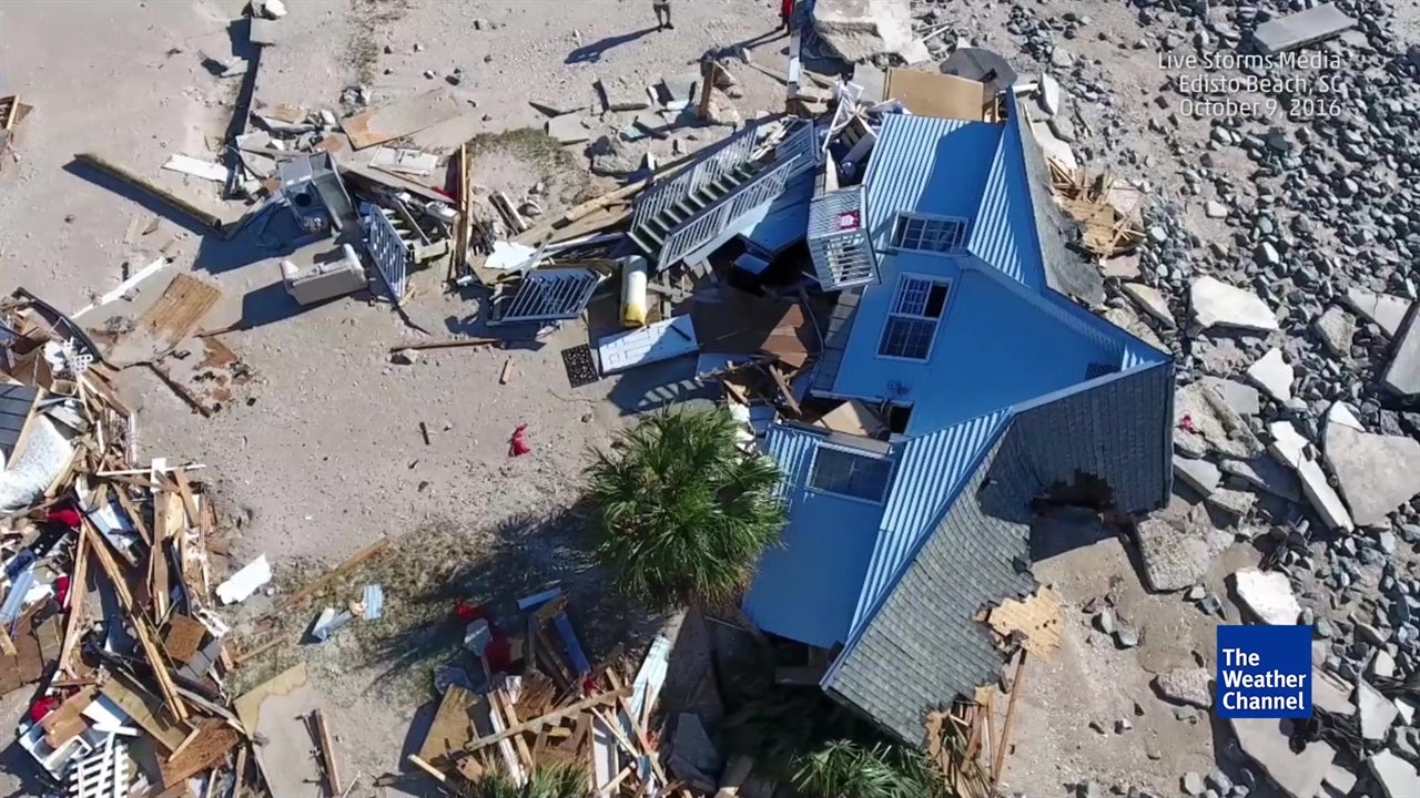 Aerial View Of Edisto Beach Damage The Weather Channel