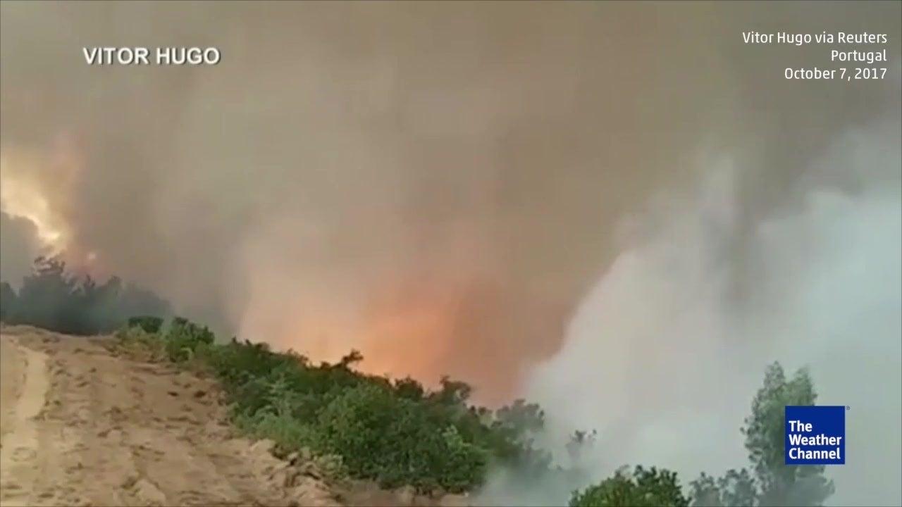 Firenado roars in Portugal