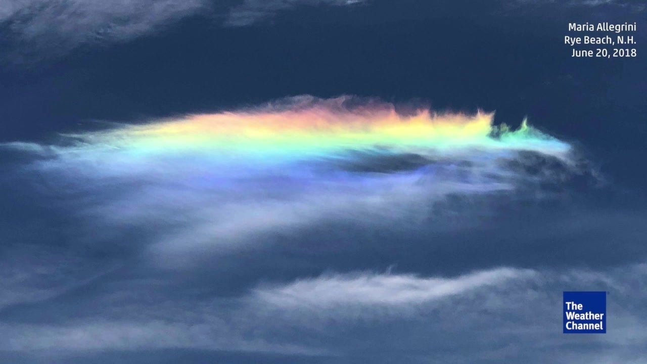 Rare Fire Rainbow Spotted In New England The Weather