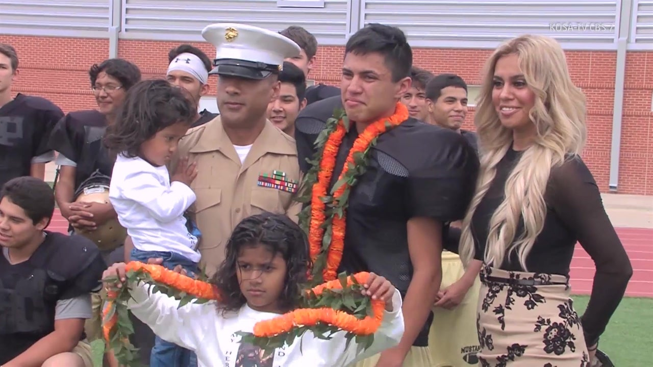 Marine Surprises Son With Early Homecoming