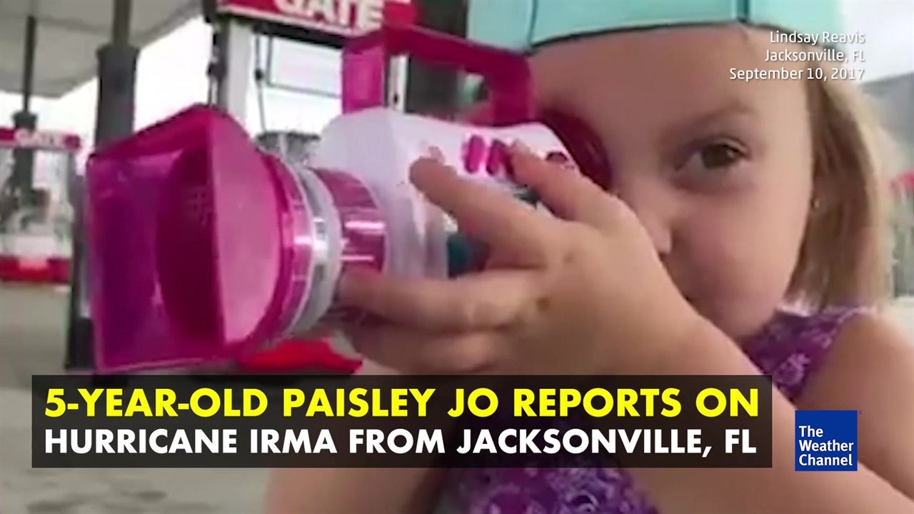 Little girl reports on Irma in Jacksonville