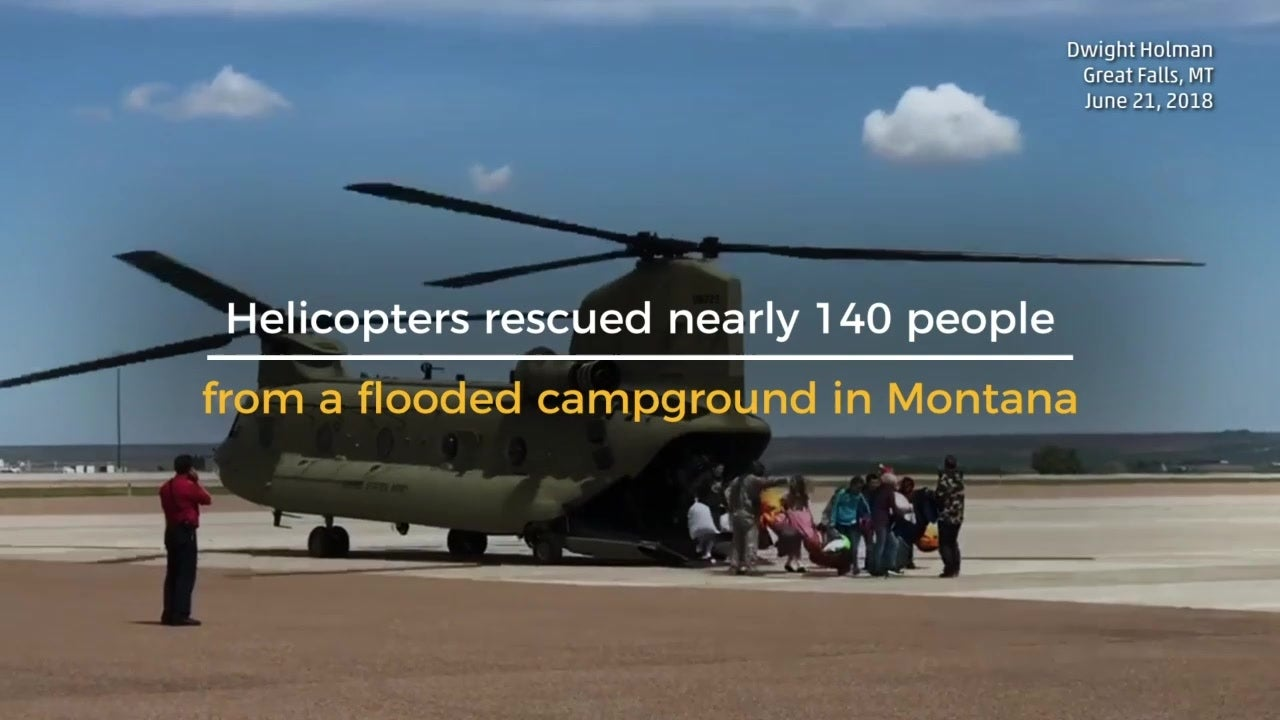 Nearly 140 People Rescued from Flooded Camp
