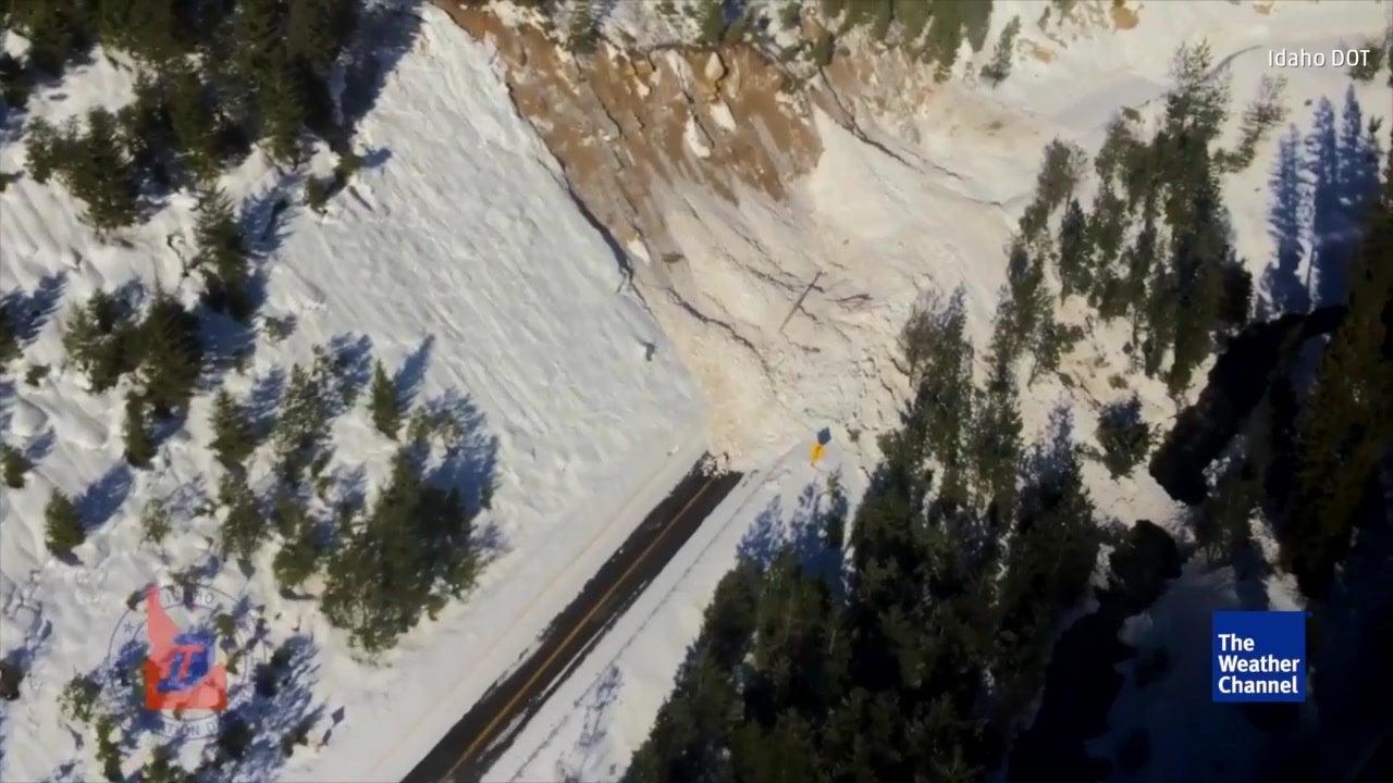Unstable Snowpack Makes Roads Unsafe