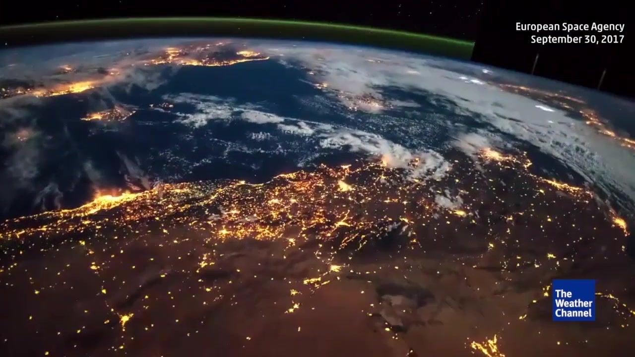 'Time-lapse' de tormentas desde el espacio