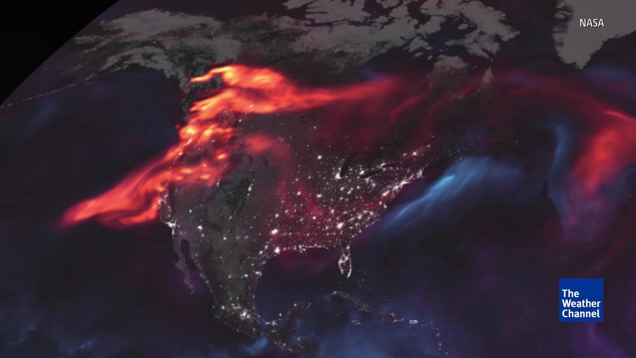 Glowing NASA map shows clouds of dust, storms and more over Earth