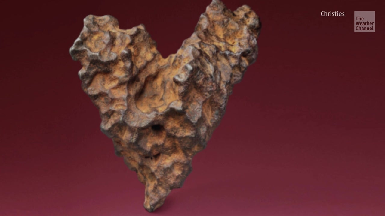 With St Valentine's Day approaching, a heart-shaped meteorite is set to go under the hammer