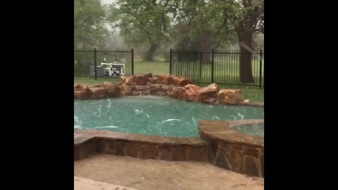Hail Makes A Big Splash In Texas Pool The Weather Channel
