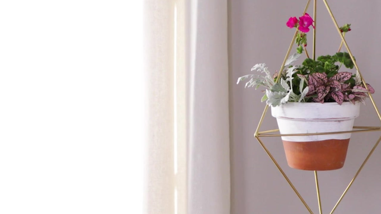 How to Make a Hanging Prism Plant Holder