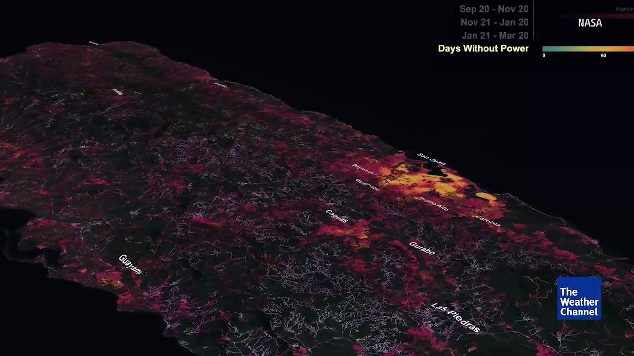 NASA mostra recuperação de Porto Rico depois de Maria