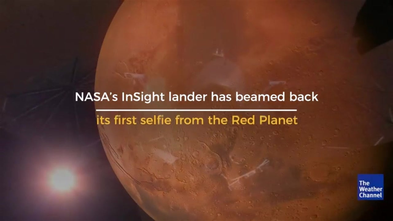 Smile! NASA's InSight lander takes its first selfie on Mars.