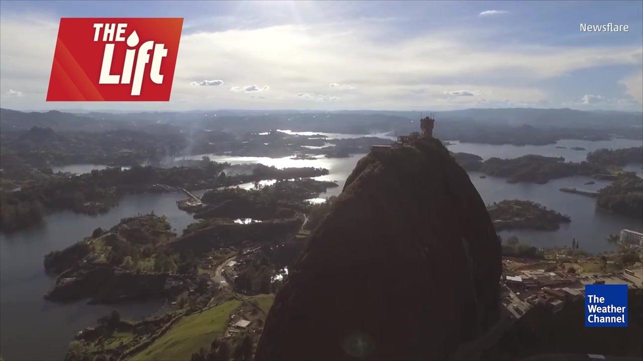 L'incroyable rocher de Guatapé, en Colombie