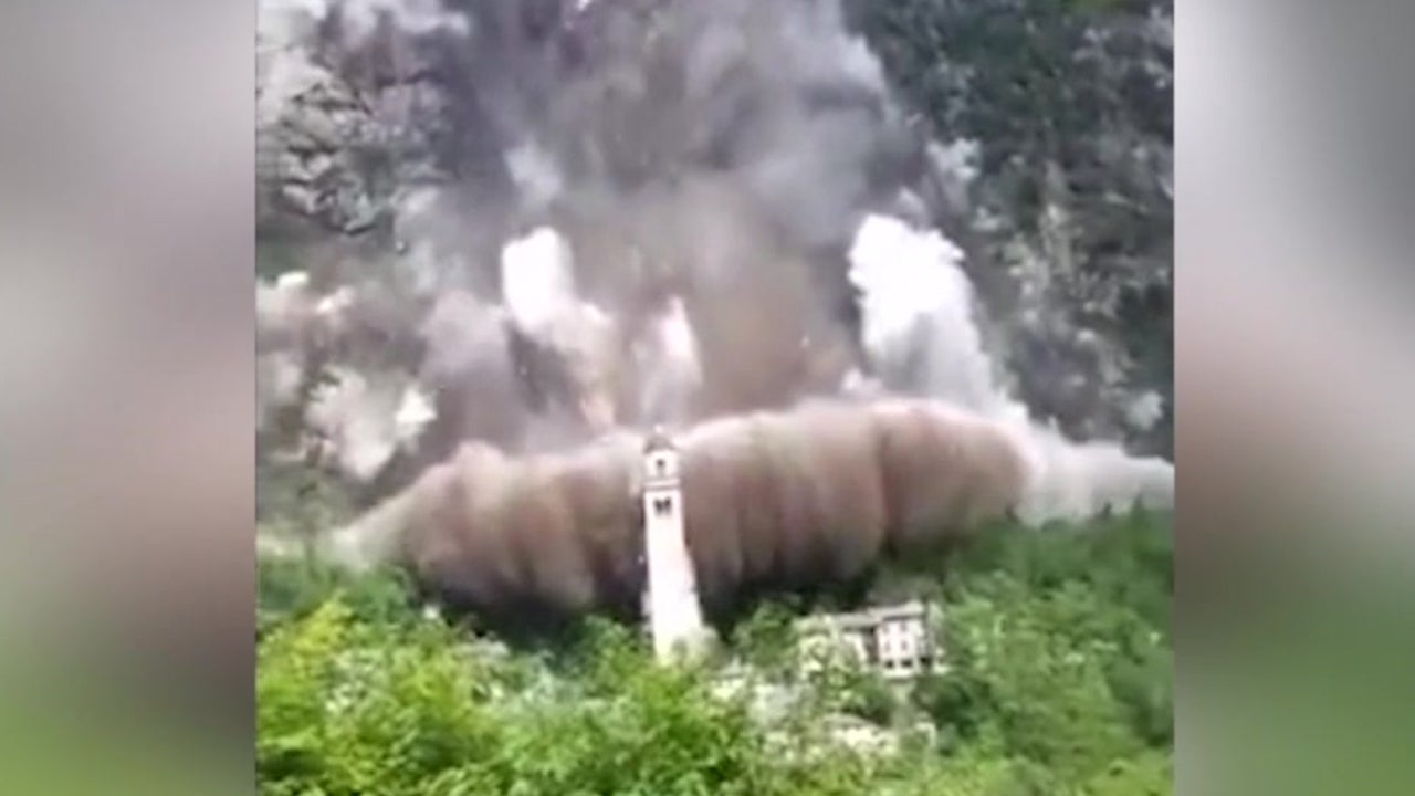 Landslide Narrowly Misses Historic Church