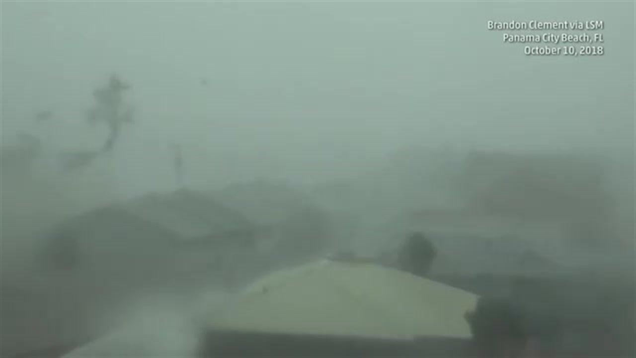 Vientos extremos en Panama City Beach