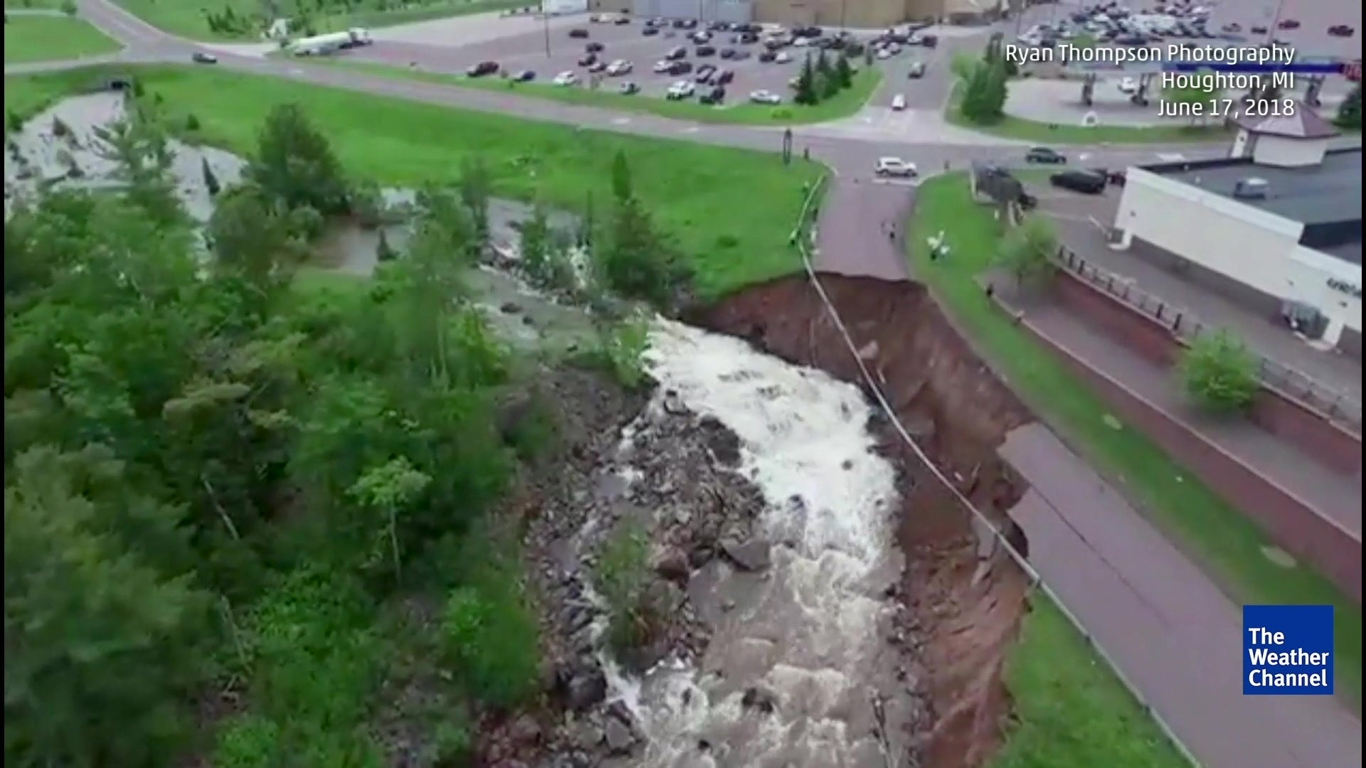 Dozens of Sinkholes Open Up After Historic Flooding in Michigan