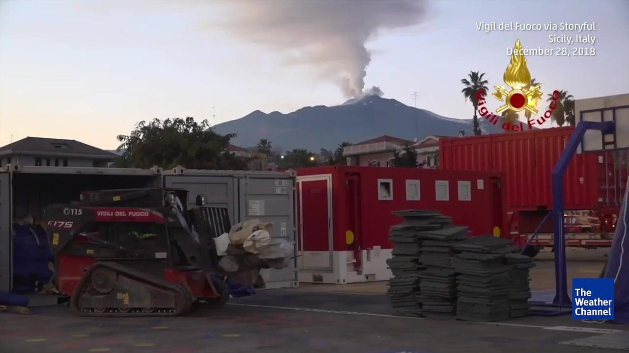 Monte Etna moveu-se durante última erupção