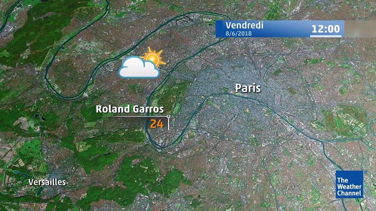 Roland-Garros : la météo du 8 juin en vidéo