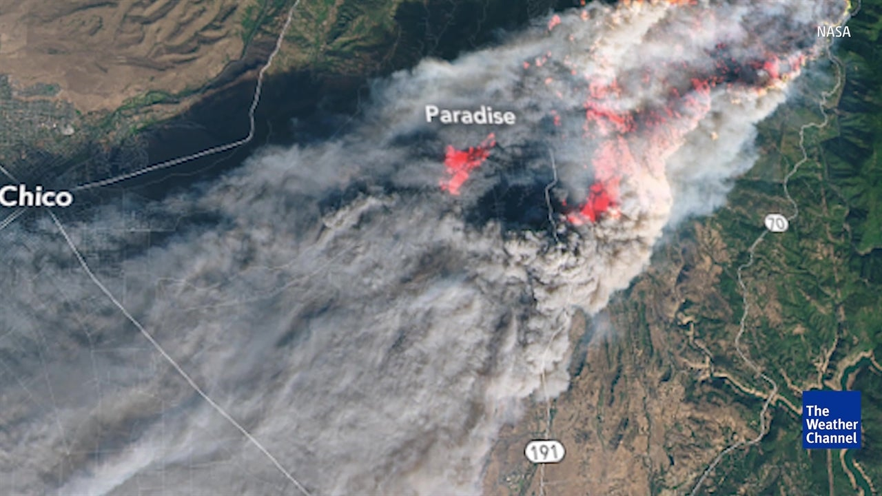 NASA Images Show Extent of California Wildfires