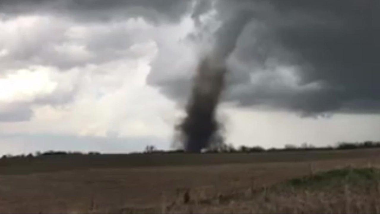 dramatic video of nebraska tornado