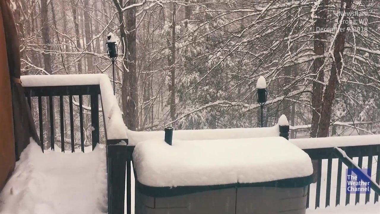 Time-lapse mostra 30 cm de neve caírem em segundos