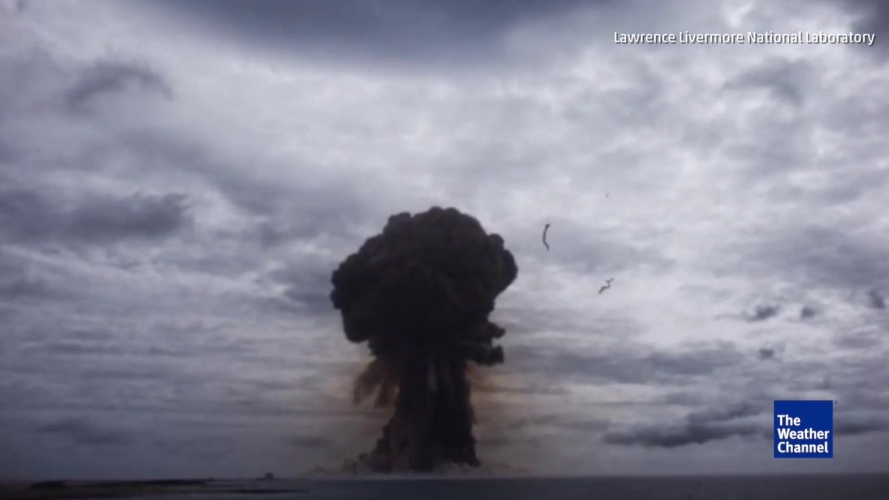 Newly declassified footage shows scale of nuclear testing