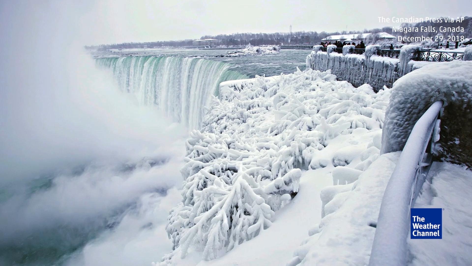 Spektakuläre Bilder Arktische Kältewelle Lässt Niagarafälle Zu