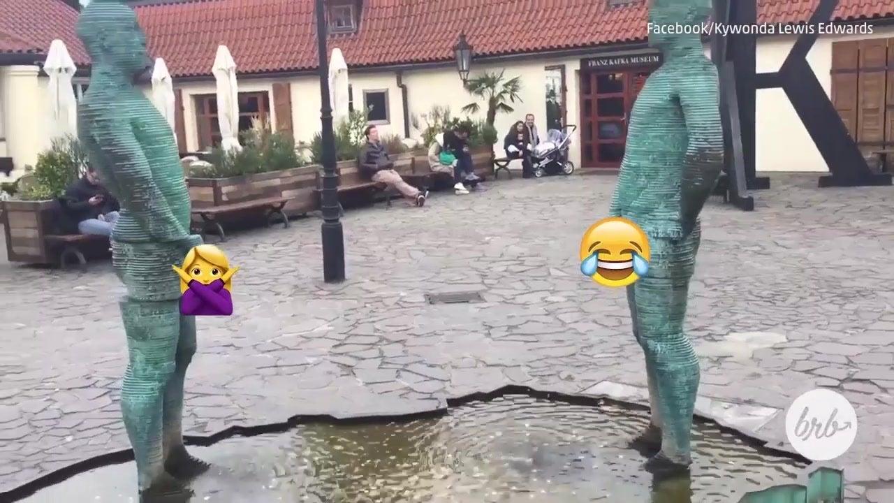 Prague Has a Pee Statue Outside the Kafka Museum