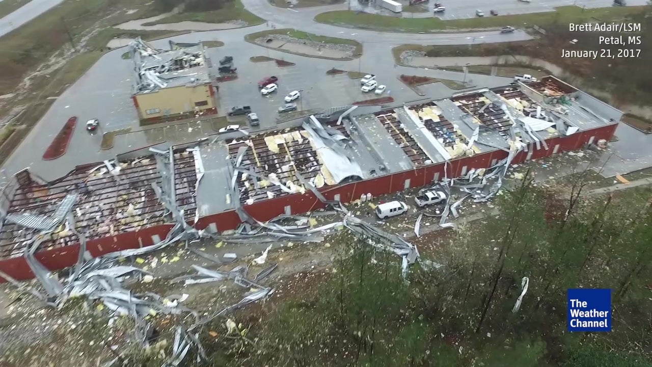 See It: Drone Flies Over Tornado's Path